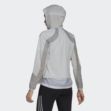 Kvinder Løb Hvid Adizero Marathon jakke