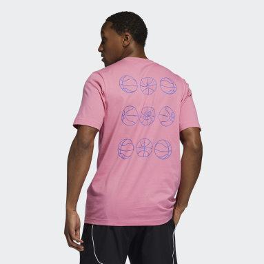 Men Basketball Pink Lil Stripe adidas Hoops Graphic Tee