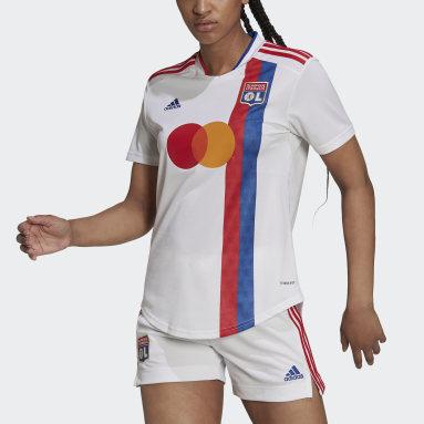 Camiseta primera equipación Olympique de Lyon 21/22 Blanco Mujer Fútbol