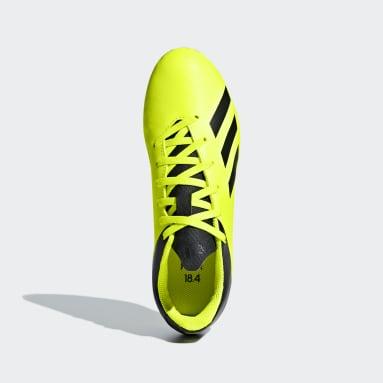 Calzado de fútbol X 18.4 Multiterreno Amarillo Niño Fútbol