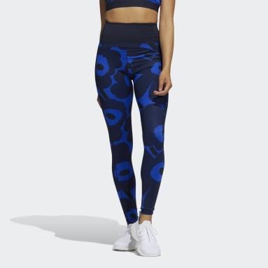 Women HIIT Blue Marimekko Believe This Long Leggings