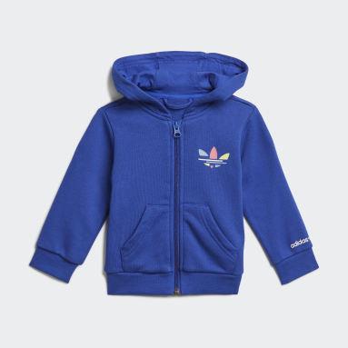 Conjunto pantalón y chaqueta con capucha Adicolor Azul Niño Originals