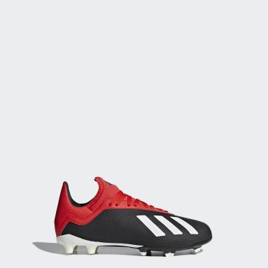 calzado de fútbol X 18.3 Terreno Firme (UNISEX) Negro Niño Fútbol