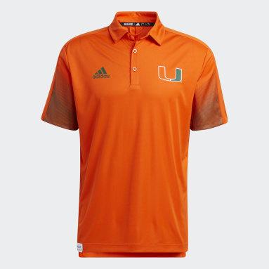 Men's Training Orange Hurricanes Primeblue Polo Shirt