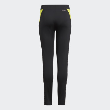 Youth 8-16 Years Gym & Training Black adidas Designed To Move Leopard Leggings
