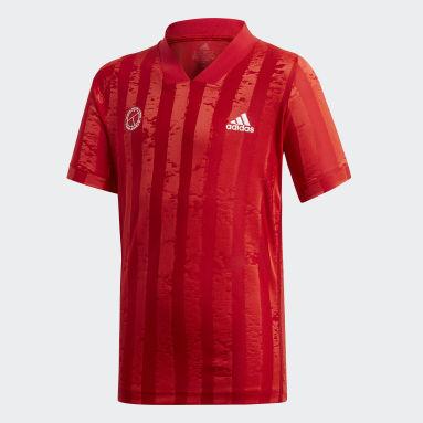Kluci Tenis červená TRIČKO BOYS FREELIFT TENNIS