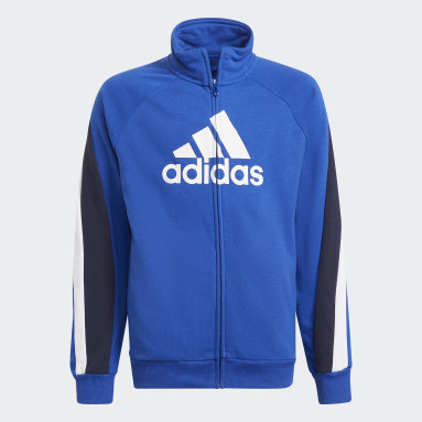 Fato de Treino Big Badge of Sport Azul Rapazes Ginásio E Treino