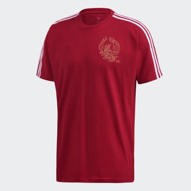 Männer Fußball FC Arsenal CNY T-Shirt Weinrot