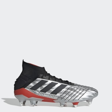 Calzado de Fútbol Predator 19.1 Terreno Suave Plata Hombre Fútbol