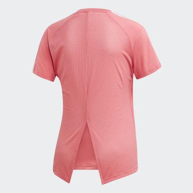 Women's Essentials Pink Design 2 Move 3-Stripes Tee