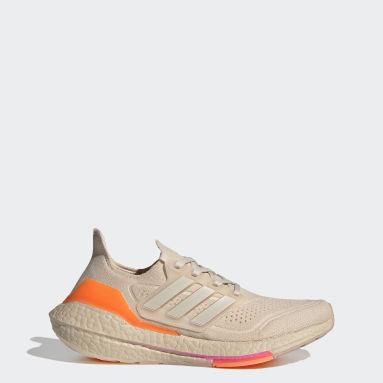 Women Running Beige Ultraboost 21 Shoes