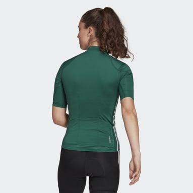 Women Cycling Green The Short Sleeve Cycling Jersey