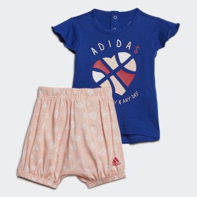 Girls Gym & Training Blue Infants Summer Set