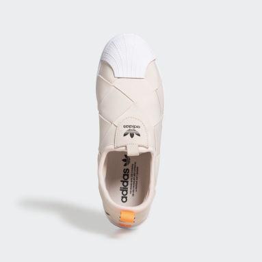 Zapatillas Superstar Sin Cordones Beige Mujer Originals