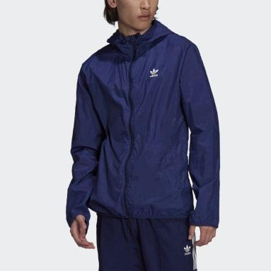 Jaqueta Corta-Vento Adicolor Essentials Trefoil Azul Homem Originals