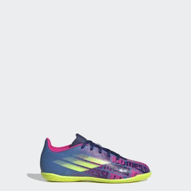 Children Soccer Blue X Speedflow Messi.4 Indoor Shoes