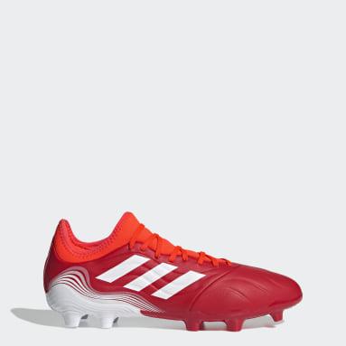 Calzado de Fútbol Copa Sense.3 Terreno Firme Rojo Hombre Fútbol