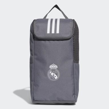 Bolso para Botines Real Madrid (UNISEX) Gris Fútbol