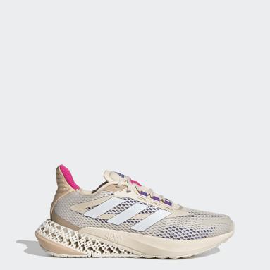 ผู้หญิง วิ่ง สีเบจ รองเท้า adidas 4DFWD Pulse