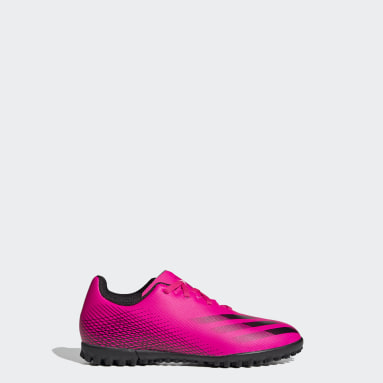 Girls Football Pink X Ghosted.4 Turf Boots