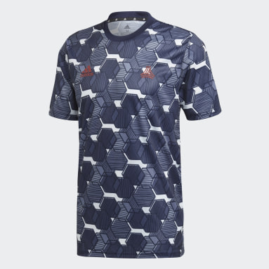 T-shirt TAN Graphic Blu Uomo Fitness & Training