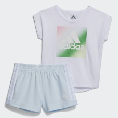 Infant & Toddler Training Blue Dance Tee and Shorts Set