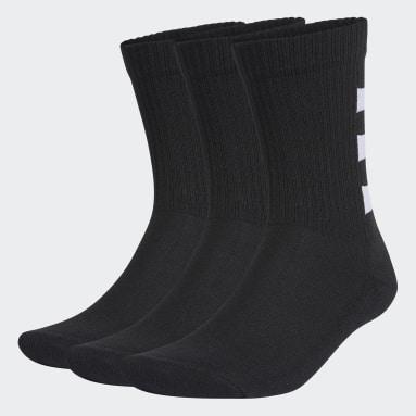 ไลฟ์สไตล์ สีดำ ถุงเท้าความยาวครึ่งแข้ง 3-Stripes Half-Cushioned (3 คู่)