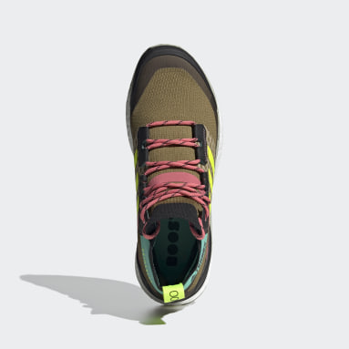 Men TERREX Brown Terrex Free Hiker Primeblue Hiking Shoes