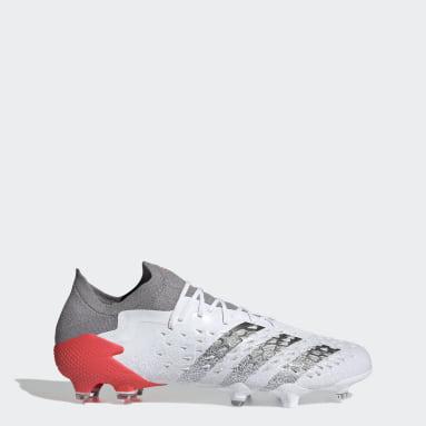 Men's Soccer White Predator Freak.1 Firm Ground Cleats