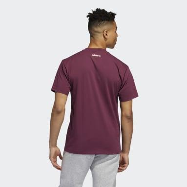 Men Originals Burgundy Deco Trefoil T-Shirt