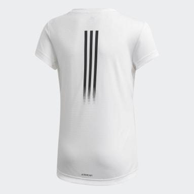 Youth 8-16 Years Yoga White AEROREADY T-Shirt