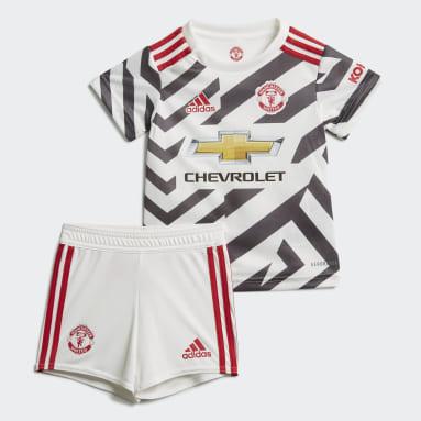 Kids Football White Manchester United 20/21 Third Baby Kit