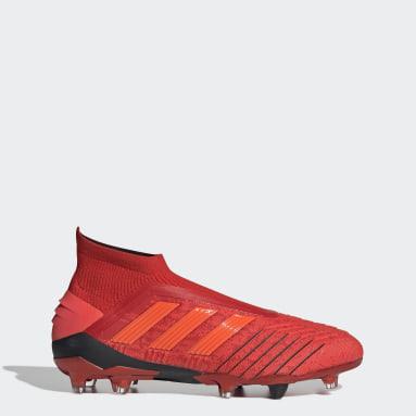 Calzado de Fútbol Predator 19+ Terreno Firme Rojo Hombre Fútbol