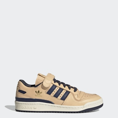 Men Originals Brown Forum 84 Low Blue Thread Shoes