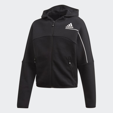 Girls Sportswear Black adidas Z.N.E. Loose Full-Zip Hoodie