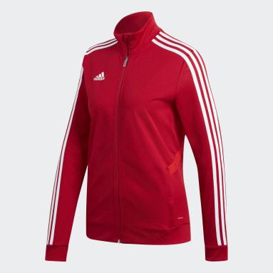 Women's Soccer Red Tiro 19 Training Jacket