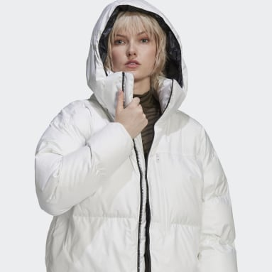 белый Укороченая куртка adidas by Stella McCartney