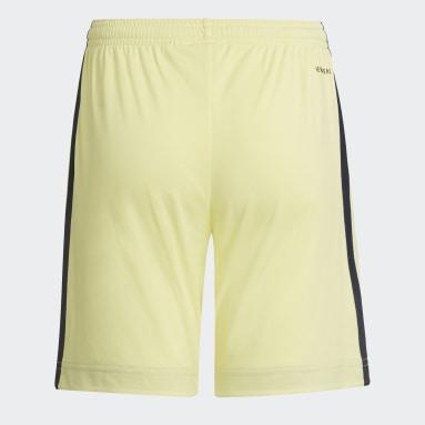 Kids Football Yellow Arsenal 21/22 Away Shorts