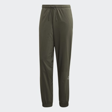 Men Sportswear Green Sport ID Tracksuit Bottoms