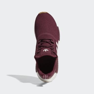Men Originals Burgundy NMD_R1 Primeblue Shoes