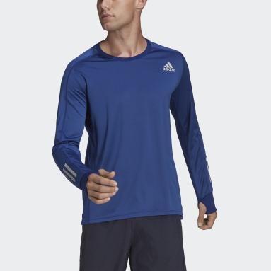 Men Running Blue Own the Run Long-Sleeve Top