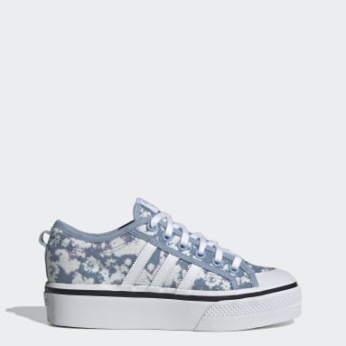 Women's Originals White Nizza Platform Shoes