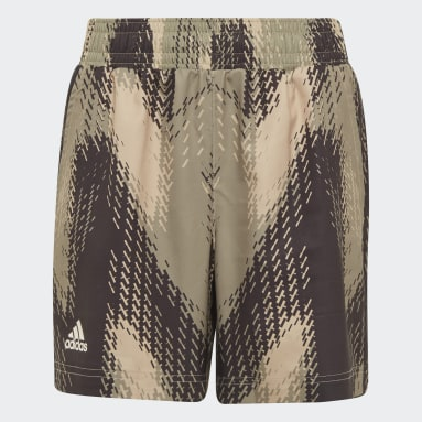 Youth Tennis Beige Printed Shorts