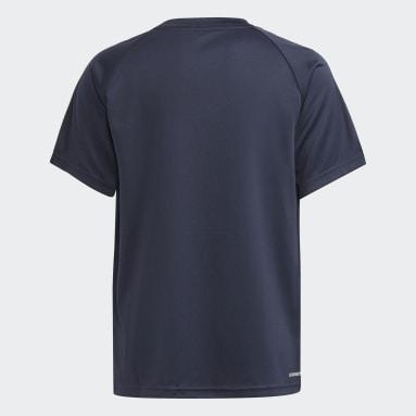 Boys Football Blue adidas Sereno AEROREADY Tee