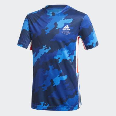 Playera Estampada Bold AEROREADY Azul Niño Training