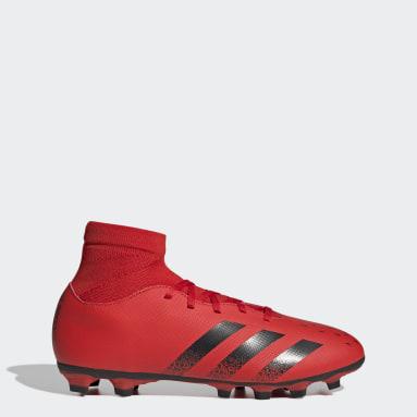 Guayos Predator Freak.4 Multiterreno Rojo Hombre Fútbol