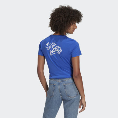Women's Soccer Blue Real Madrid Graphic Tee