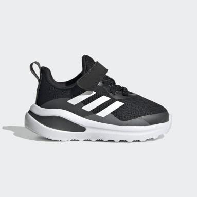 Chaussure de running FortaRun Elastic Lace Top Strap Noir Enfants Running