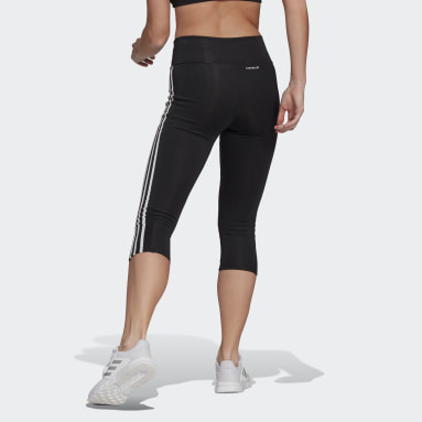 Women HIIT Black Designed To Move High-Rise 3-Stripes 3/4 Sport Tights