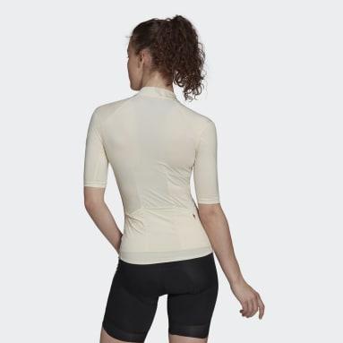 Maillot - camiseta de ciclismo manga corta Blanco Mujer Ciclismo